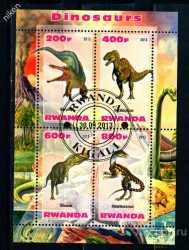 Rwanda, Prehistoric animals, 2013, 4stamps