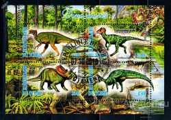 Tchad, Prehistoric animals, 2013, 4stamps