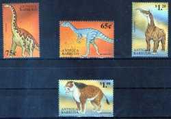 Antigua and Barbuda, Prehistoric animals, 4stamps