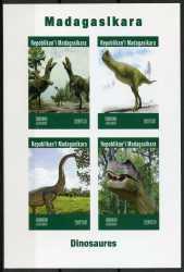 Madagascar, Prehistoric animals, 2019, 4stamps (imperf.)
