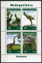 Madagascar, Prehistoric animals, 2019, 4stamps