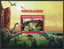 Madagascar, Prehistoric animals, 2018, 1stamp