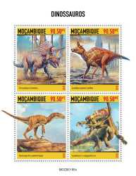 Mozambique, Prehistoric animals, 2020, 4stamps