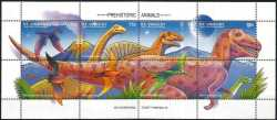 Saint Vincent and the Grenadines, Prehistoric animals, 1994, 8stamps