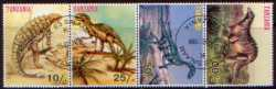 Prehistoric animals, Tanzania, 4stamps