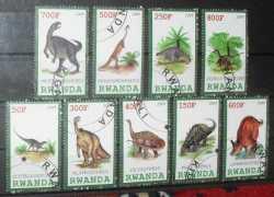 Rwanda, Prehistoric animals, 2009, 9stamps