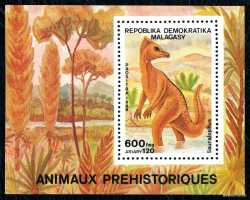 Madagascar, Prehistoric animals, 1988, 1stamp