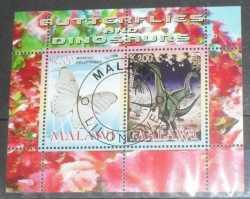 Malawi, Prehistoric animals, 2008, 2stamps