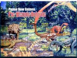 Papua New Guinea, Prehistoric animals, 2004, 6 stamps
