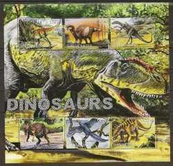 Prehistoric animals, Turkmenistan, 2000, 6stamps
