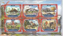 Mali, Prehistoric animals, 2017, 6 stamps