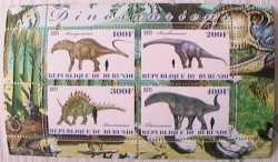 Burundi, Prehistoric animals, 2011, 4stamps
