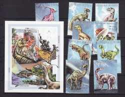 Guinea, Prehistoric animals, 10stamps