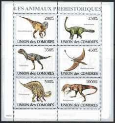Comoros, Prehistoric animals, 2009, 6stamps