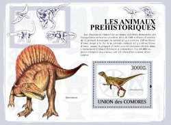 Comoros, Prehistoric animals, 2009, 1stamp