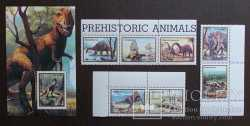 Abkhazia, Prehistoric animals, 8 stamps