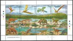 Guyana, Prehistoric animals, 1993, 12stamps