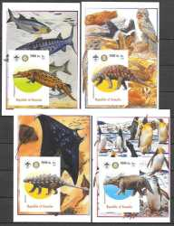 Somalia, Prehistoric animals, 2005, 7 stamps (imperf.)