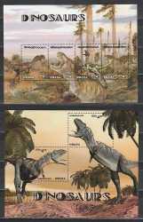 Ghana, Prehistoric animals, 6stamps