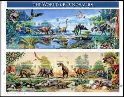 Prehistoric animals, USA, 1997, 15stamps