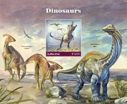 Liberia, Prehistoric animals, 2020, 1stamp