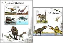 Madagascar, Prehistoric animals, 5stamps
