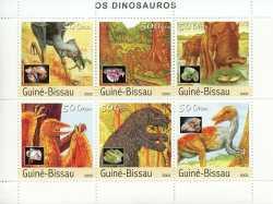 Guinea-Bissau, Prehistoric animals, 2003, 6stamps