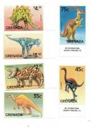 Grenada, Prehistoric animals, 1999, 6 stamps