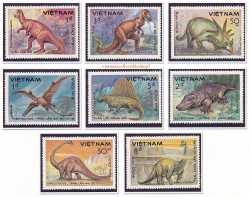 Prehistoric animals, Vietnam, 1984, 8stamps