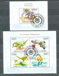 Comoros, Prehistoric animals, 2010, 5stamps