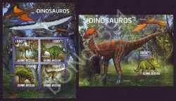 Guinea-Bissau, Prehistoric animals, 2011, 5stamps