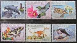 Mozambique, Prehistoric animals, 6stamps