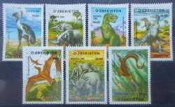 Uzbekistan, Prehistoric animals, 7stamps