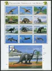 Saint Vincent and the Grenadines, Prehistoric animals, 1999, 13stamps