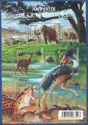 France, Prehistoric animals, 2008, 4stamps