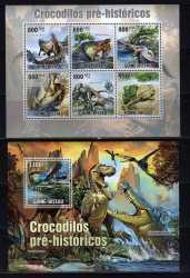 Guinea-Bissau, Prehistoric animals, 2010, 7stamps