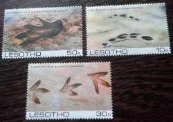 Lesotho, Prehistoric animals, 1984, 3stamps