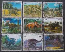 Namibia, Prehistoric animals, 9stamps