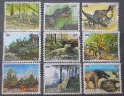 Namibia, Prehistoric animals, 9 stamps