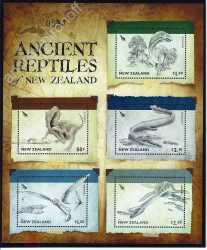 New Zealand, Prehistoric animals, 2010, 5stamps
