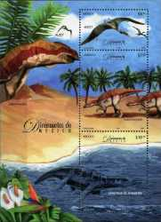 Mexico, Prehistoric animals, 2006, 3 stamps