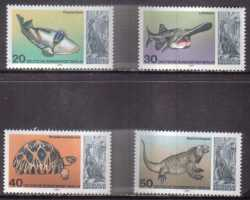 Germany, Prehistoric animals, 1977, 4 stamps