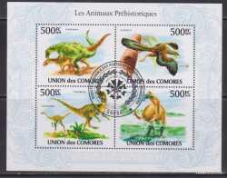 Comoros, Prehistoric animals, 2010, 4stamps
