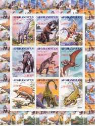 Afghanistan, Prehistoric animals, 2000, 27stamps