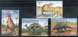 Dominica, Prehistoric animals, 4stamps