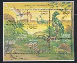 Mozambique, Prehistoric animals, 1999, 9stamps
