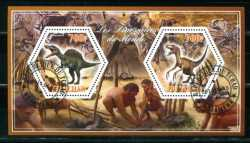 Tchad, Prehistoric animals, 2014, 2stamps