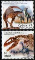 Serbia, Prehistoric animals, 2009, 2stamps
