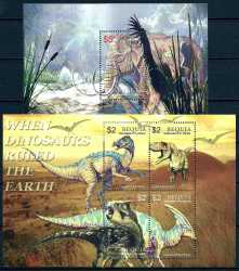 Saint Vincent and the Grenadines, Prehistoric animals, 2005, 5stamps