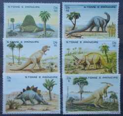 Sao Tome and Principe, Prehistoric animals, 1982, 6stamps